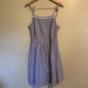 Old Navy | Blue & White Striped Sundress | Large L